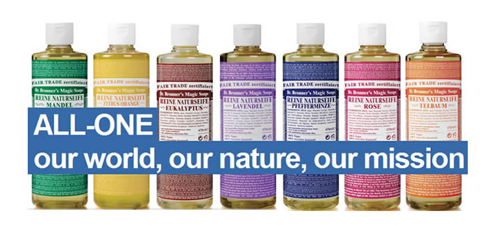 Dr. Bronner organic soaps USDA Germany