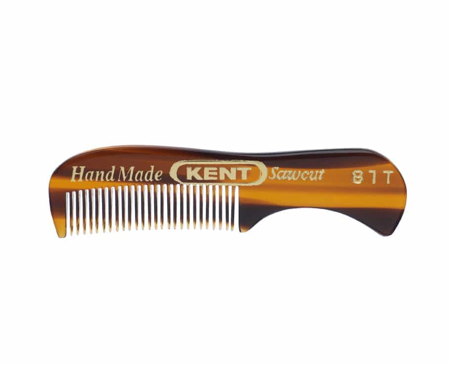 kent brushes 81t extra small men s moustache beard comb. Black Bedroom Furniture Sets. Home Design Ideas