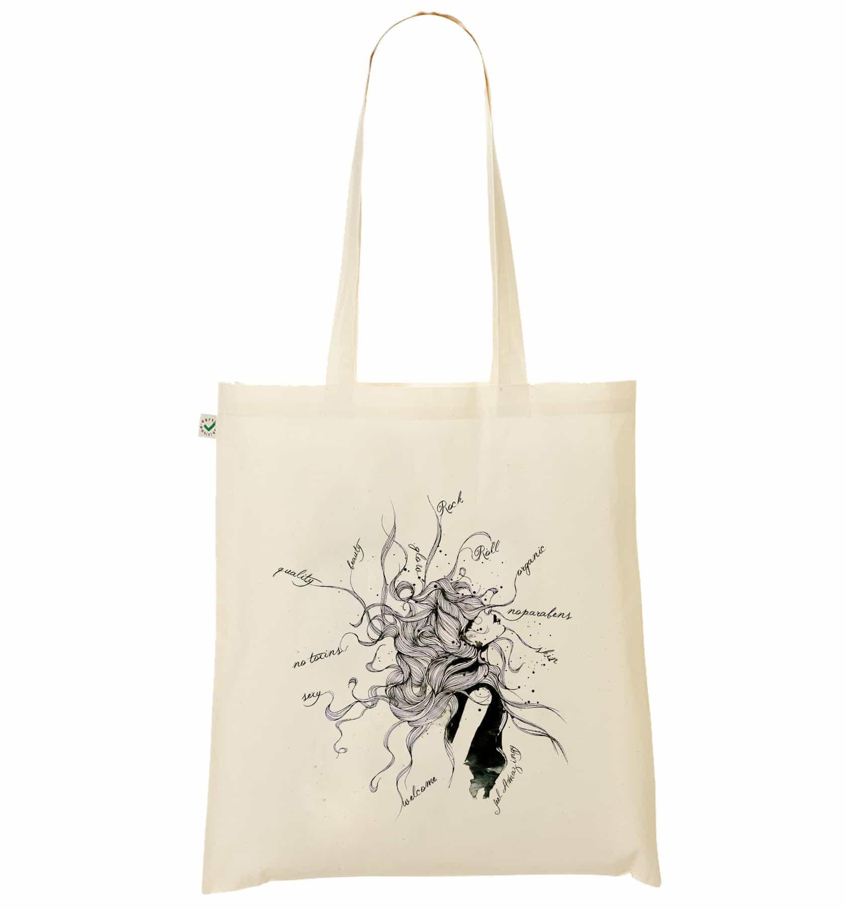 767b1520e19f2 Amazingy - Organic cotton tote bag   Messy Hair
