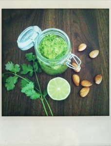 Cilantro-Coconut Oil – Pesto