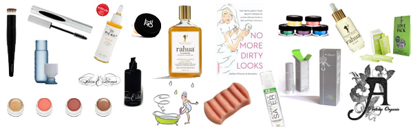 the best organic cosmetics, makeup, skin care brands at Amazingy
