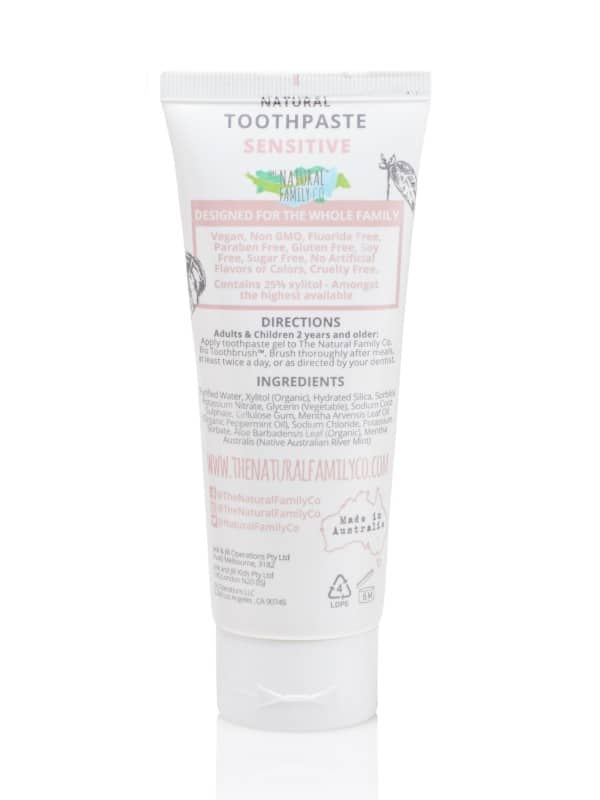 Sensitive toothpaste ingredients